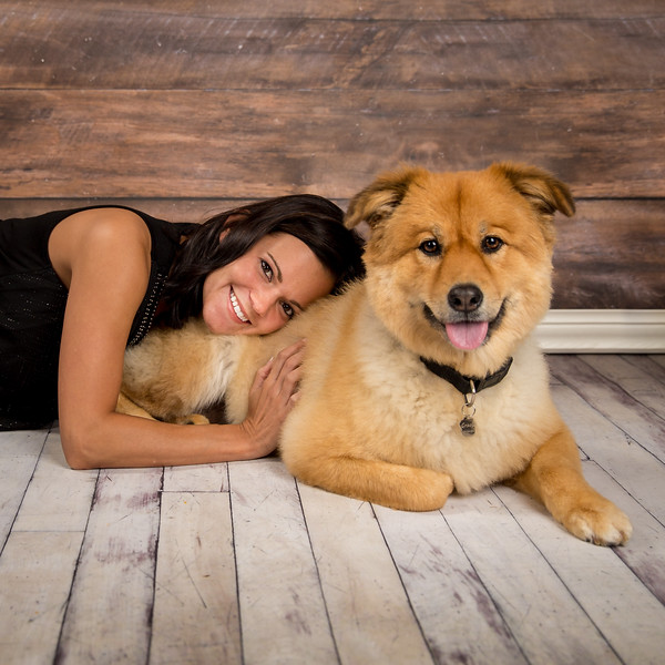 """It's been a while since we've had a pet session in the studio: Carrie brought her beautiful dog Gracie in for a """"pet and me"""" session. We had a great time and love how the session turned out!"""