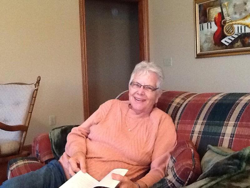 Mom visiting us in Wapakoneta -- October 2016