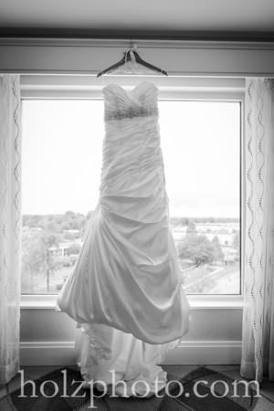 Carlee & Jimmy B/W Wedding Photos