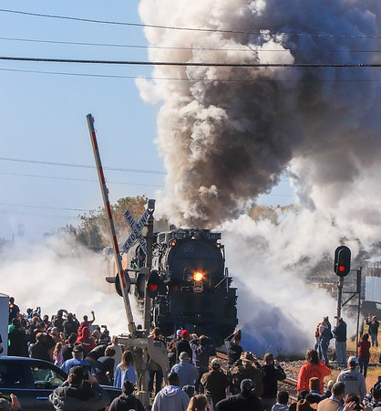 Big Boy steam engine 4014 in Texas, 2019