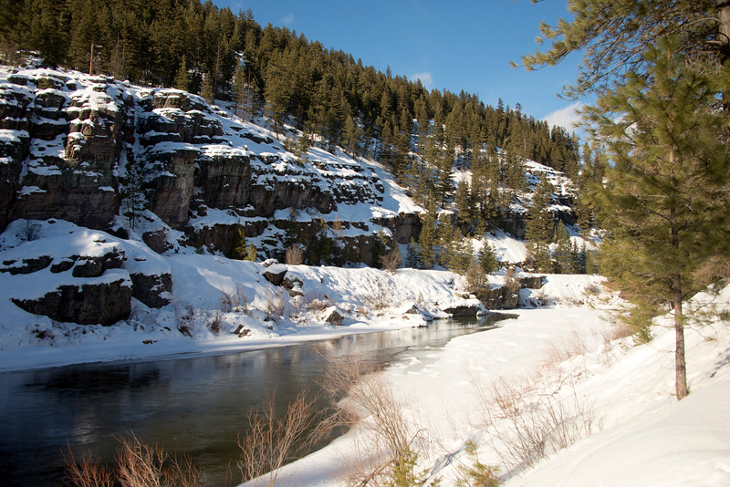 Snowy Banks of the Blackfoot River