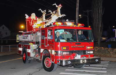 Winthrop Firefighters Santa Parade, 12-24-18