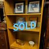 Oak Bookshelf Cabinet
