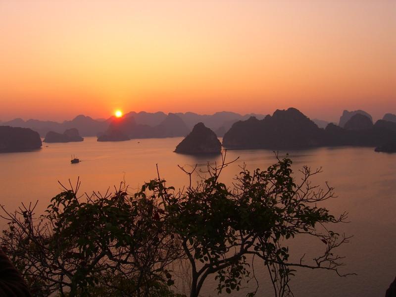 Beautiful Sunset - Halong Bay, Vietnam