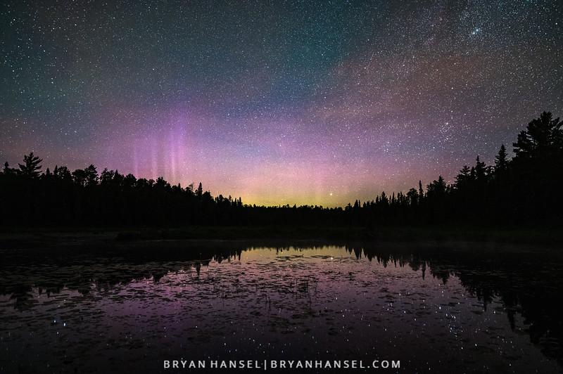 Northern Lights in Northern Minnesota