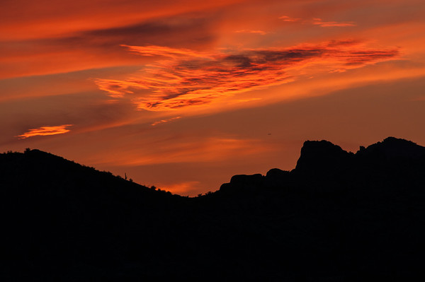 Sunset in the Superstition Mountains