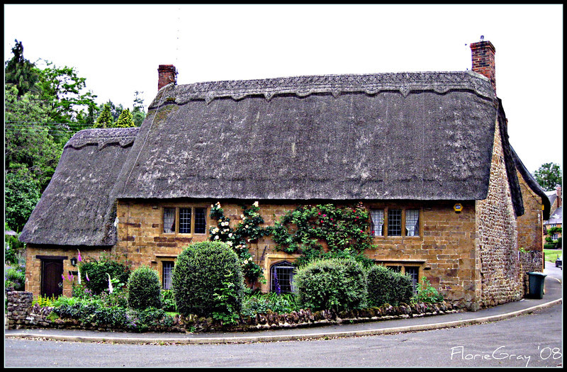 Thatched Roof and Climbing Roses  Life doesn't get much better than that.