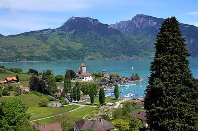 Lake Thun/Spiez/Switzerland - May, 2013