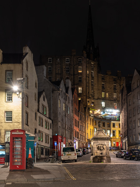 Grassmarket and Castle Hill in Edinburgh