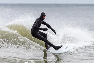 Surfers at Rockaway Beach 3/4/18