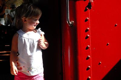 Savannah's First Train Ride