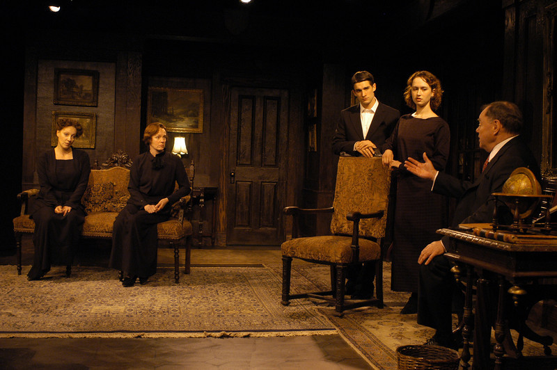 Lisa Bostnar, Kristin Griffith, James Knight, Victoria Mack and Jack Davidson in THE TRUTH ABOUT BLAYDS by A.A. Milne  Photo: Richard Termine