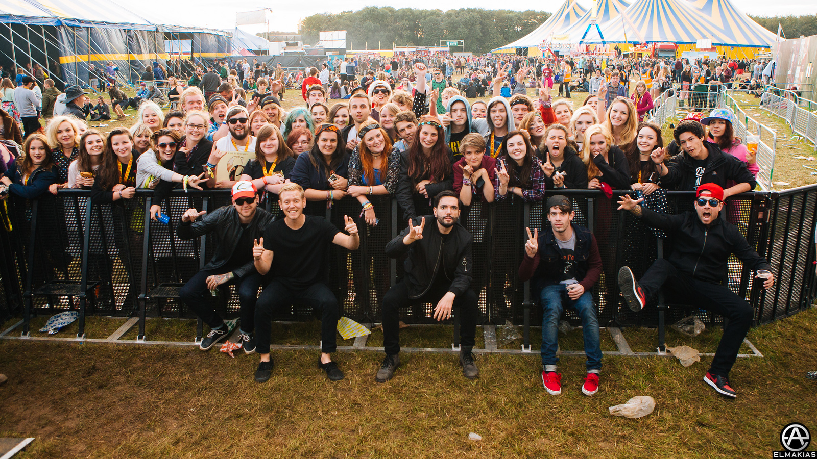 A Day To Remember with fans at Leeds Festivals