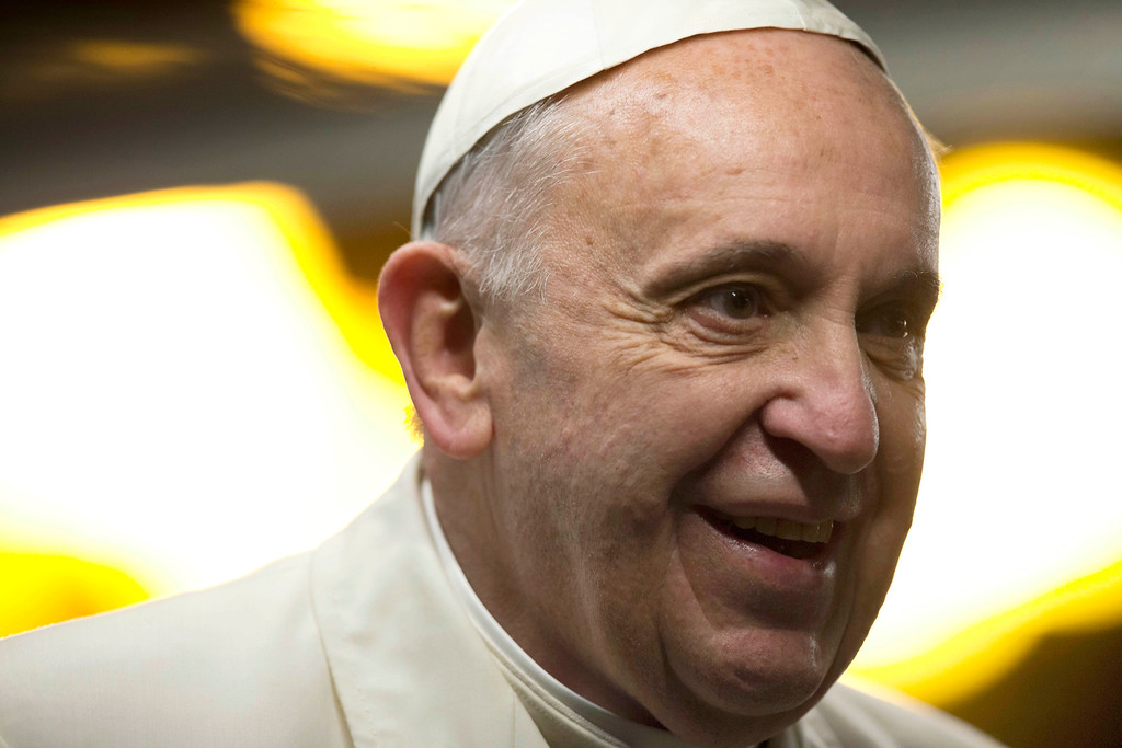 . 2013: Pope Francis. Pope Francis arrives in St. Peter\'s square to visit a nativity scene after he celebrated a New Year\'s Eve vespers service in St. Peter\'s Basilica at the Vatican, Tuesday, Dec. 31, 2013. (AP Photo/Alessandra Tarantino)
