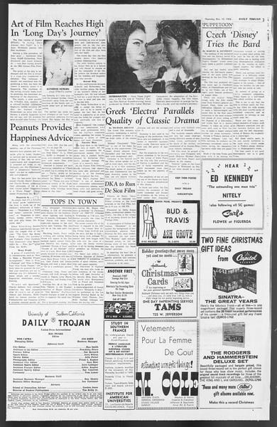 Daily Trojan, Vol. 54, No. 53, December 13, 1962