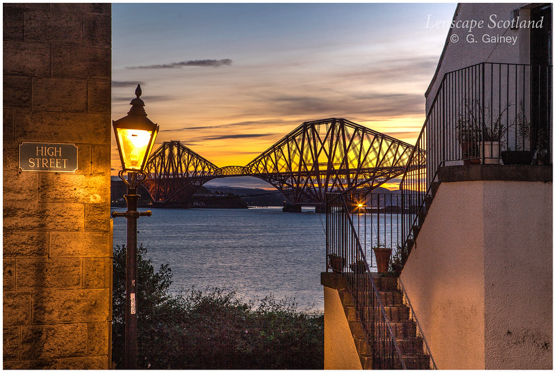 Forth Bridge sunrise from Queensferry High Street