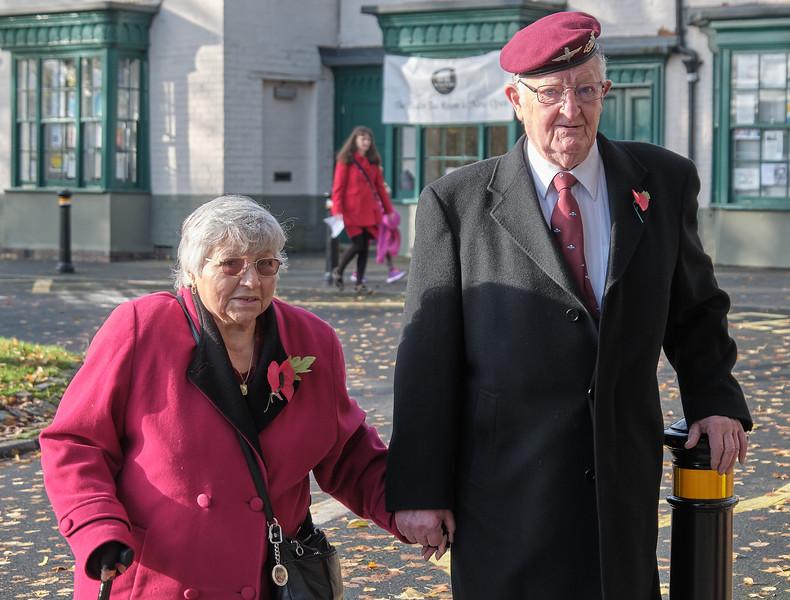 The Annual Remembrance Service at Saint Nicolas' Church, Kings Norton on Sunday 10 November 2019.