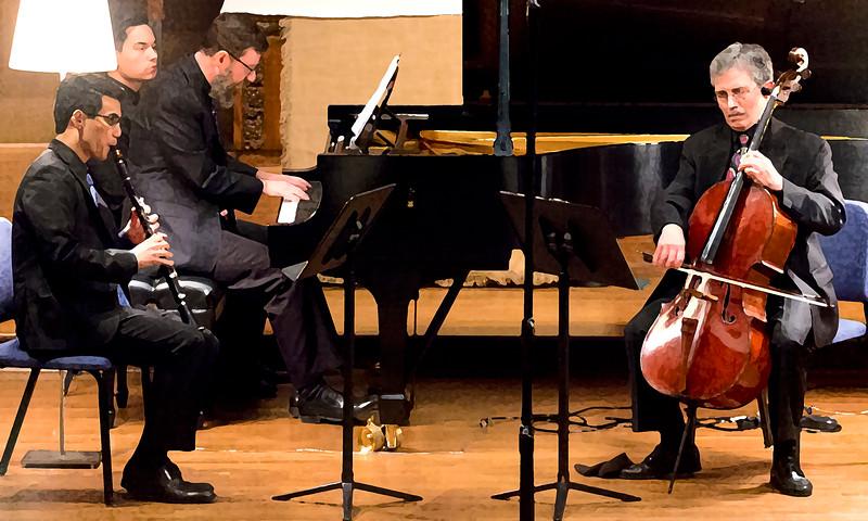 Beethoven trio ... drybrush
