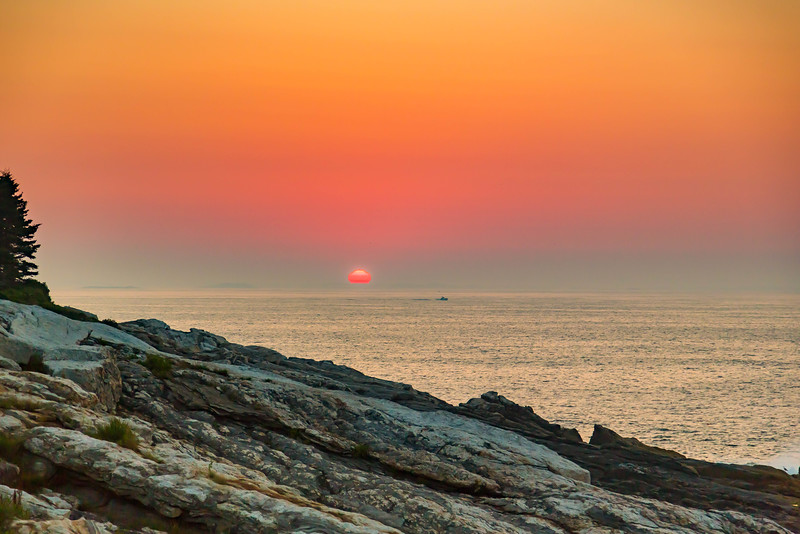 SUNRISE AT PEMAQUID POINT