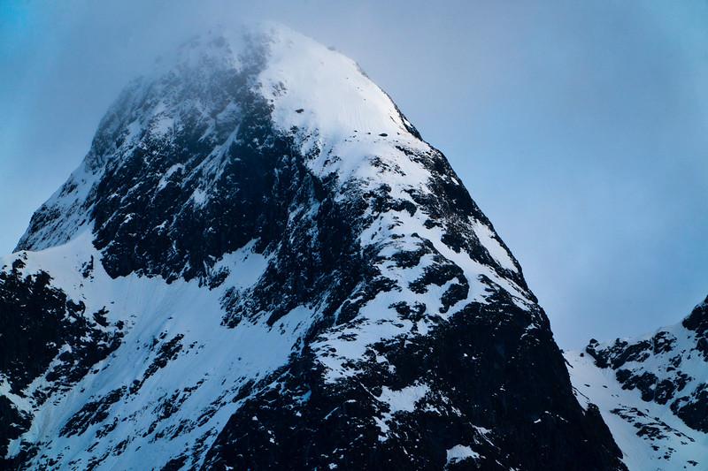 Doubtful Sound Snow-Covered Peak