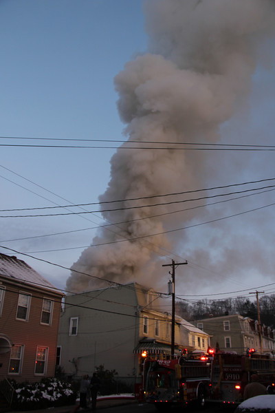 House Fire, 231, 233 Coal St, Port Carbon (11-28-2012)
