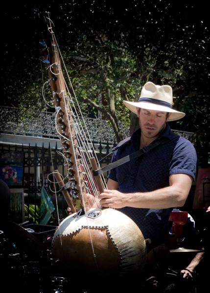 Jonah, Playing the  Kora, Jackson Square