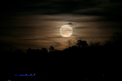Sunset and Supermoon 12-03-2017