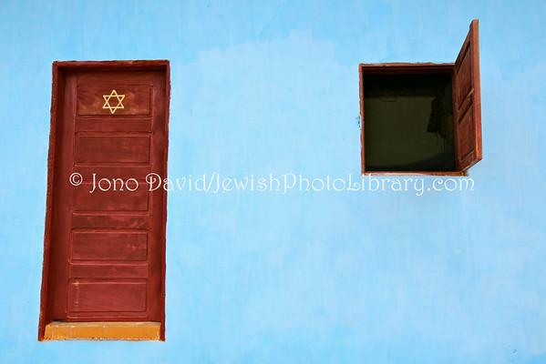 CAMEROON, Sa'a. Prayer/study/social hall, Beth Yeshourun Jewish community (at home of Moreh Nachman Etele) (2.2014)