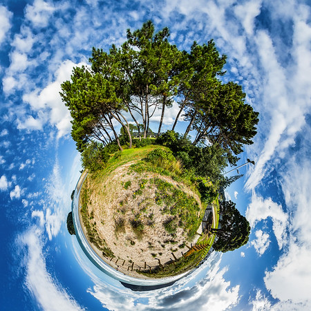 Whangamata Beach Tiny Planet Photos