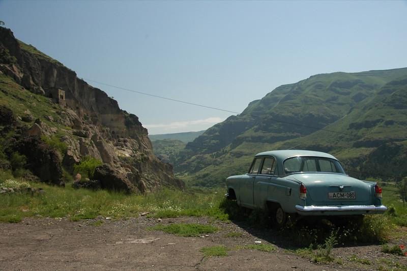 Soviet Car - Vardzia, Georgia