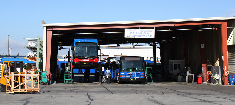2014 - Rider Transit New Hybrid Bus Factory Inspection