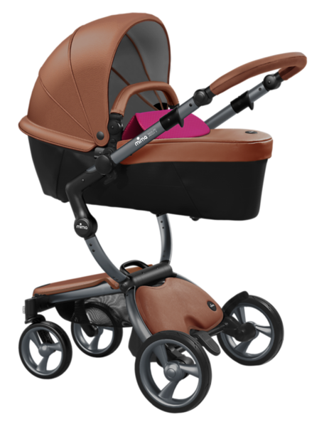 Mima_Xari_Product_Shot_Camel_Flair_Graphite_Chassis_Hot_Magenta_Carrycot.png