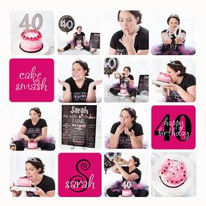 Sarah - 40th Smash Cake