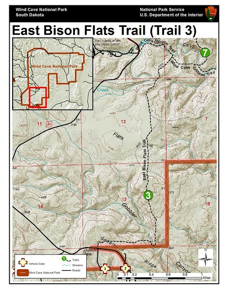 Wind Cave National Park (East Bison Flats Trail)