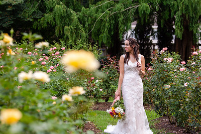 Callie | Raleigh Rose Garden Bridal Portraits