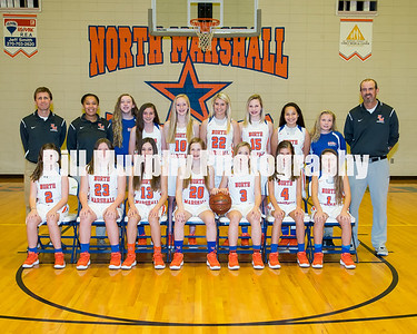 2017 - 2018 North Marshall Middle 8th Grade Girls Basketball