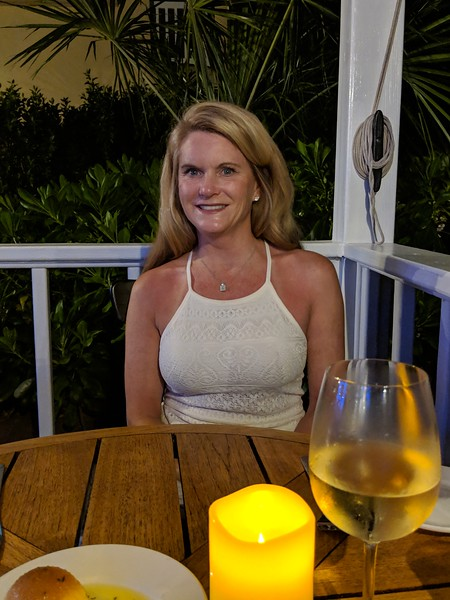 The last night we had a great dinner at the Yachtsman on the beach