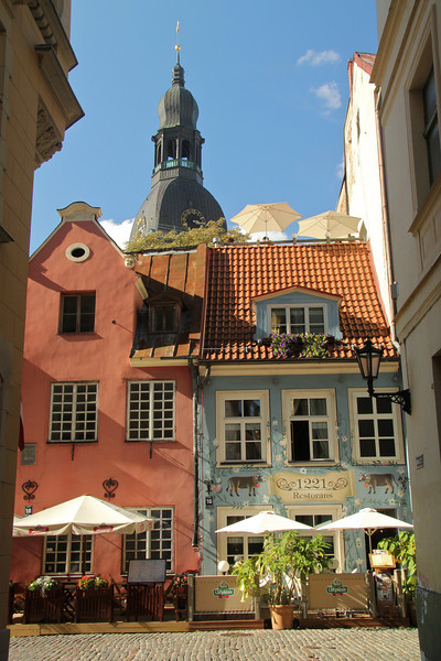 Postcard view in Old Town -Riga, Latvia