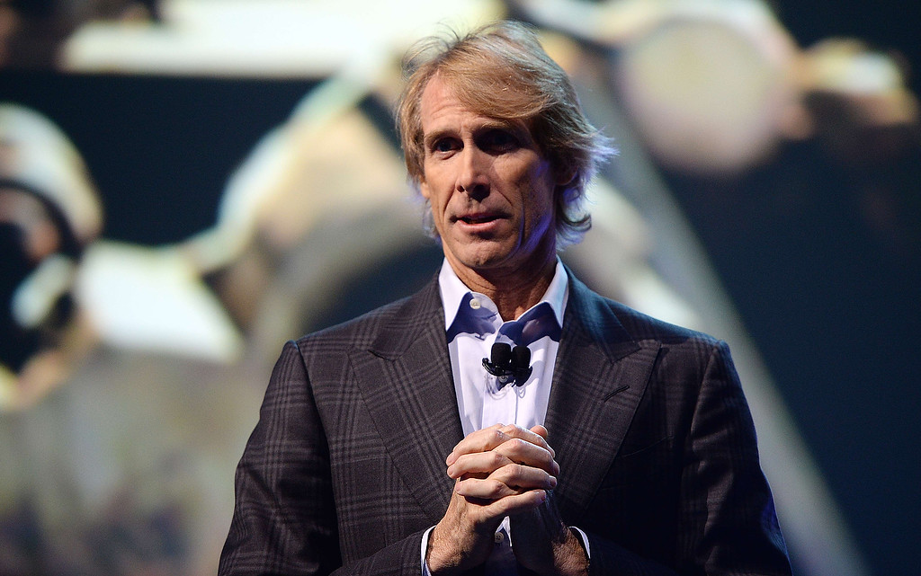 . Movie director Michael Bay speaks at the Samsung press event at the Mandalay Bay Convention Center for the 2014 International CES on January 6, 2014 in Las Vegas, Nevada. (ROBYN BECK/AFP/Getty Images)