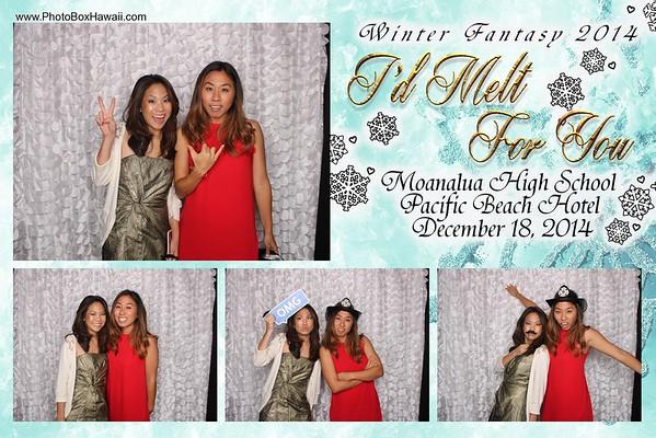 Moanalua High School Winter Ball 2014 Group Booth