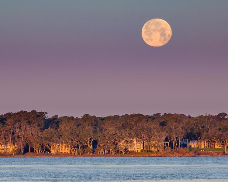 Super Moon over Dafuskie