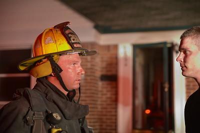 Dearborn - Cleveland Street -  House fire