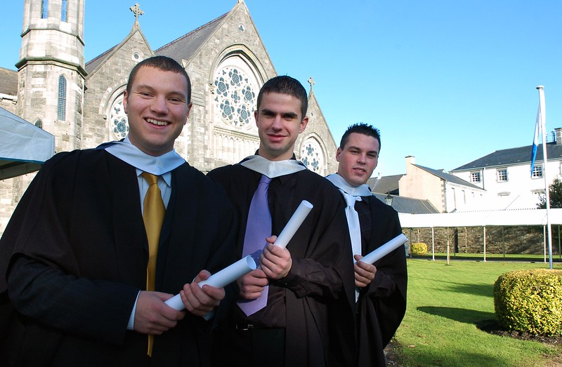 Provision 261006 Vincent Foley (Dublin), Toby Kavanagh (Kilkenny) and Denis Fitzgerald (Wexford) graduated with a Bachelor of Business in Recreation and Leisure from WIT yesterday (Weds). PIC Bernie Keating/Provision