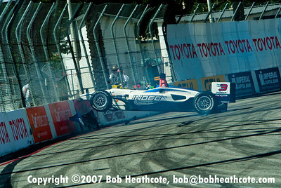 2007 Paul Tracy Crash at Long Beach Grand Prix