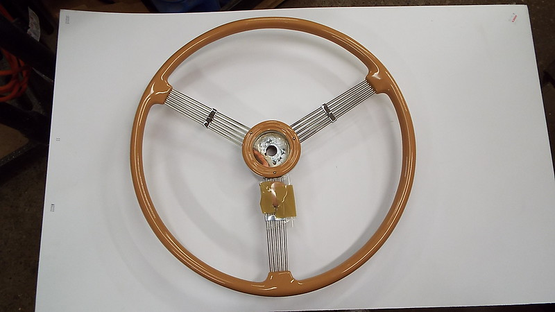 Front side of he new steering wheel.