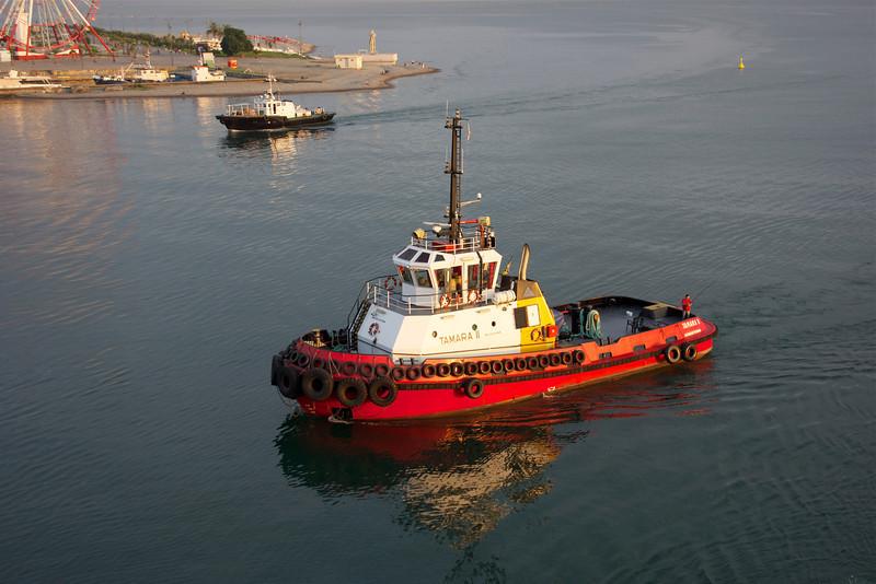 Tugboat at waterfront at Batumi, Georgia. _DSC4709