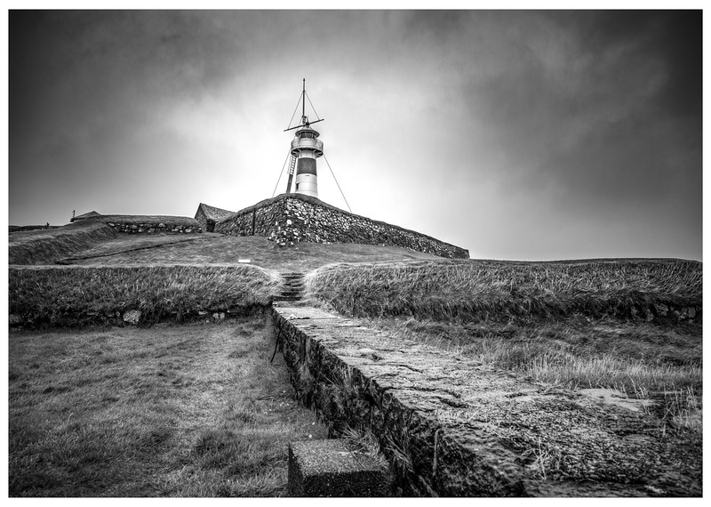 Faroe Lighthouse 3     Black and White Photography by Wayne Heim