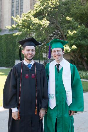2021 Two Graduates together: Noah & Rafael