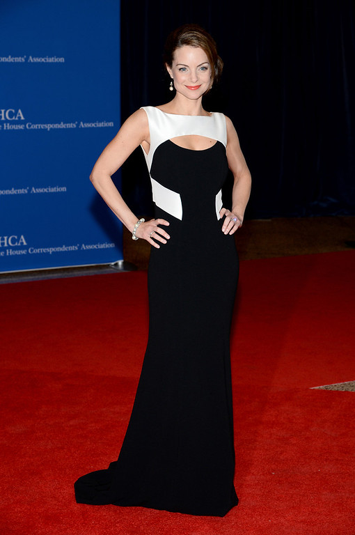. Actress Kimberly Williams-Paisley attends the 100th Annual White House Correspondents\' Association Dinner at the Washington Hilton on May 3, 2014 in Washington, DC.  (Photo by Dimitrios Kambouris/Getty Images)