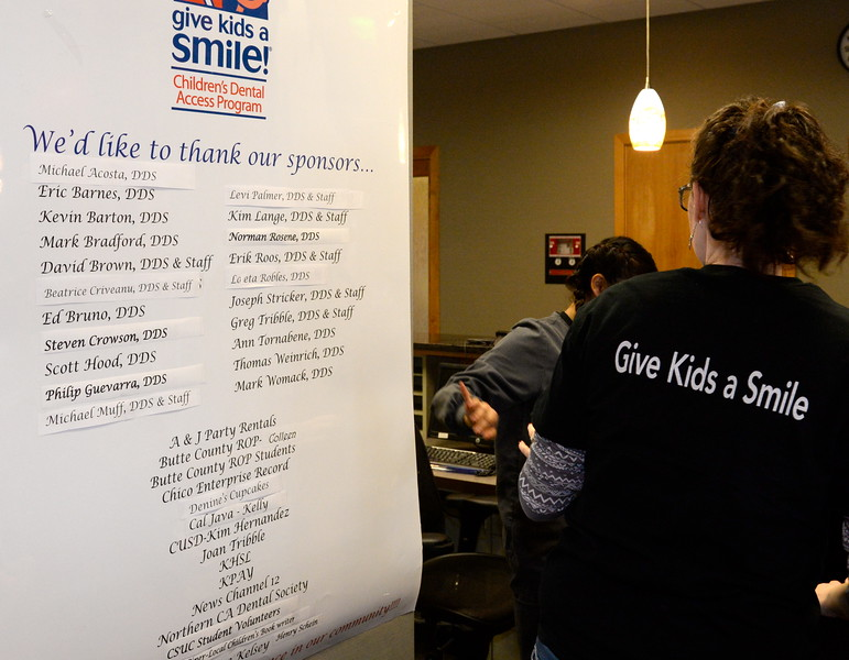 Local Dentists and their associated staffs help provide free dental care to needy children during the Youthful Smiles program at Chico Pediatric Dentistry Friday Feb. 3, 2017. (Bill Husa -- Enterprise-Record)